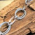 rose and silver link bracelet